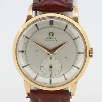 Vintage Omega 18ct Rose Gold Automatic Bumper Watch