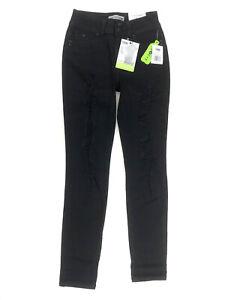 YMI Wannabettabutt Skinny Mid Rise Ankle Jean Juniors 3 Black Distressed NWT
