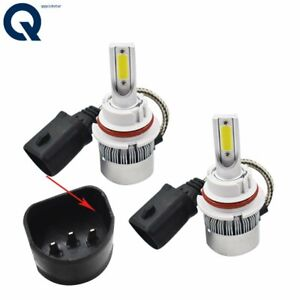 Super White LED Headlight Bulbs High Low Beam Conversion Kit Pair 9007 HB5 6000K