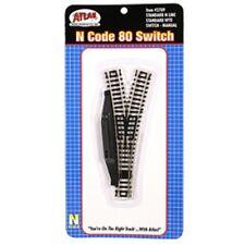 Atlas N Scale Code-80 Nickel Silver w/Black Ties Manual Wye Turnout ATL2709