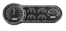 Dakota Digital 53 54 Chevy Car Analog Dash Gauges Black Alloy White VHX-53C-K-W