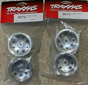 Traxxas Stampede XL-5 / Rustler XL Front / Rear Chrome 2.2'' Wheels 3672, 3673