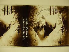 plaque photo guerre 14-18 vosges sous la neige WWI