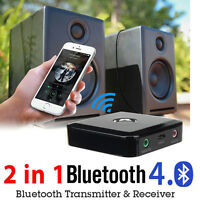 Bluetooth Receiver Transmitter 2-in-1 3.5mm Stereo Music Audio Wireless Adapter