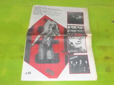 SPRINGSTEEN -TELEPHONE - PLASMATICS - GIG !!!!!VINTAGE FRENCH MAG FROMTHE 80'S!
