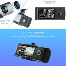"Car Dual Lens Dash Cam 2.7"" 1080P HD DVR Camera Video Cycle Recorder GPS Logger"