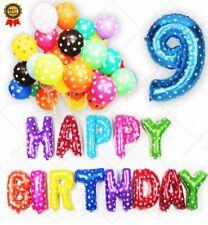 Multi Paralume Festone Happy Birthday Palloncini Età Numero Autosigillante Festa