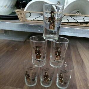 6 Vintage Shot Glasses Katie Heilbronn Éric Rohmer Heinrich von Kleist (shelf02)