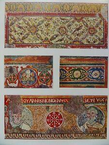Italian Church Anagni Cathedral Romanesque Fresco Lazio Italy 1928