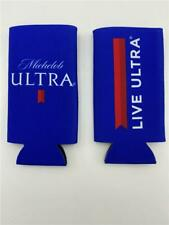 New Lot of 2 Michelob Live Ultra Koozie Beer Cooler For Slim Can