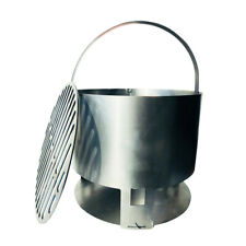 """The 14-40™ Charcoal Basket for 55 Gallon UDS Ugly Drum Smoker Parts - 14"""" round"""