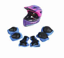 CIGNA Kids Cycling Bike Convertible Helmet Purple S-size w/Blue protective pads