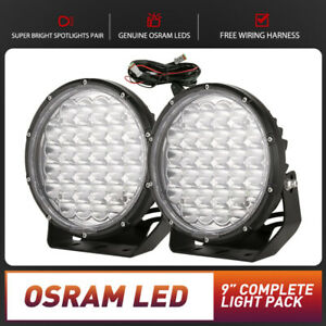 OSRAM 9 Inch LED Spotlight Spot Driving Lights Round Vehicle Lamp with Harness
