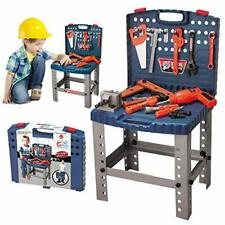 68 Piece Kids Toy Workbench W Realistic Tools and Electric Drill for