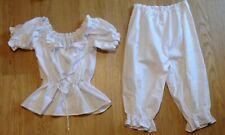 Handmade Set of bloomers/capri and peasant blouse, PJ, pyjama, new, sizes 4-30