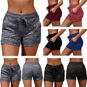 Women Summer Cotton Activewear Running Lounge Shorts Yoga Sports Pants Plus size