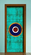 Vinyl Door Sticker Cover Wrap Panel Spitfire Army target WW2 roundel Airplane