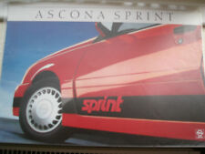 Opel Ascona Sprint brochure Sep 1986 German text