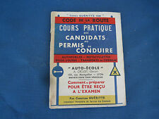 Ancien Code de la route - Codes Guéritte 1939 - Permis de conduire