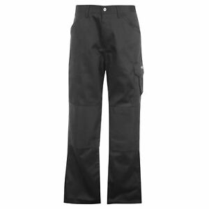 Dunlop Mens Work Trousers Workwear Pants Bottoms Zip