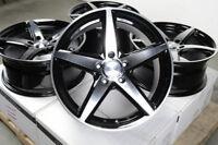 "17"" Wheels Volkswagen Beetle CC Eos Golf GTI Jetta Passat Audi A3 A4 Black Rims"