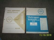 service manual and parts catalog for 1972 johnson 9 1/2 hp. motor. like new cond