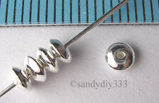 20x STERLING SILVER SEAMLESS SAUCER SPACER BEADS 3.6mm 1.9mm (#062)