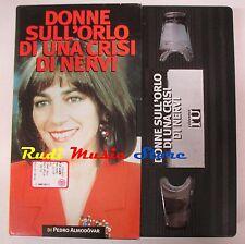 film VHS DONNE SULL'ORLO DI UNA CRISI DI NERVI CARTONATA  L'Unità  (F47*) no dvd