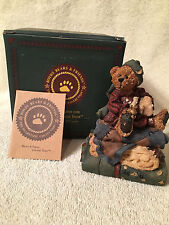 Boyds Bears Bearstone...1E NEVILLE...THE BEDTIME BEAR~ SF MUSIC BOX   #2754SF