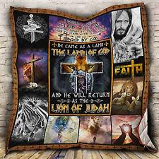 Jesus Christ Quilt Blanket, Christianity Quilt Blanket, Religious Quilt Blanket