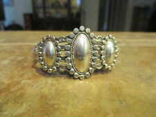 Exquisite OLD Fred Harvey Era Navajo Sterling Silver Flat Raindrop Bracelet