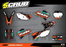 KTM Dekor SX SXf 125 200 250 400 450 525 2005 2006 '05 '06 SCRUB Aufkleber Set