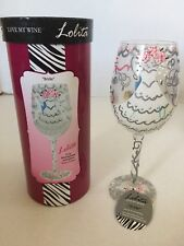 Lolita Wedding Day Bride Dress Hand Painted Wine Glass Bridal Shower Gift 15 Oz