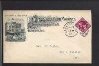 "LAFAYETTE,INDIANA,1894,#220,FULL ILLUST ADVT COVER. ""POTTLITZER BRO'S FRUIT CO""."