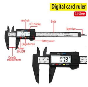 Digital Electronic Vernier Caliper Gauge Micrometer Measuring Tool with Battery