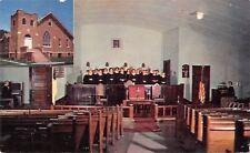 Linn Creek Missouri~Methodist Church Inset~Choir in Robes~1950s PC
