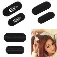 Black Sponge Hair Clip Volume Bump It up Padding Bun Princess Updo Tool Holder