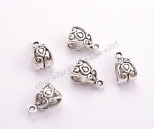 Tibetan Silver/Gold/Bronze Charm Pendant Bail Connector Beads 5MM Hole BE3030