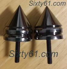 Suzuki GSXR 1000 Bar Ends Spiked Black Chrome - US Seller