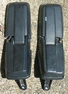 92-93 VOLVO 240 245 WAGON TAIL GATE HINGES MATCHING SET (2) BLACK OEM W/ GASKETS