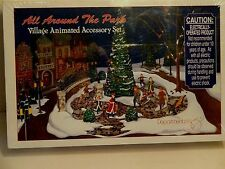 """New Dept 56 Victorian Christmas Village""""All Around The Park"""" Action Display"""