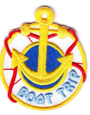 """""""BOAT TRIP"""" -- VACATION, TRIP, RIDE, ADVENTURE - IRON ON EMBROIDERED PATCH"""