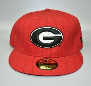 Georgia Bulldogs NCAA New Era 59FIFTY Pinstripe Fitted Cap Hat - Size: 7 3/8