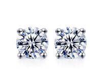 Ohrstecker Ohrringe 0,5 Karat Farbe F VVS Moissanite Damen 925er Sterling Silber