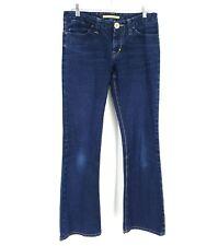 Sergio Valente Womens Size 31 x 32 Blue Mid Rise Slim Fit Pockets Denim Jeans