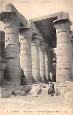 Egypt Thebes Ramesseum La Grande Salle Hypostyle