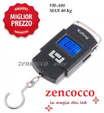 SCONTO bilancia Digitale Pesa Bagagli Portatile Valigie Dinamometro Gancio 40 kg
