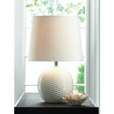 "Fairfax 16.4"" White Ceramic Base Table Lamp with Shade"