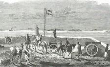 RUSE BULGARIA RUSTSCIUK BATTERIE TURCHE Turkish Army - Incisione 1800