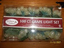 100 COUNT GRAPE LIGHT SET (NEW) WILSON & FISHER WHITE GRAPES